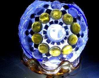 Glass Mosaic Gazing Ball