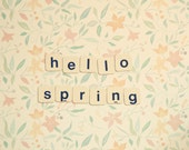 Hello Spring postcard