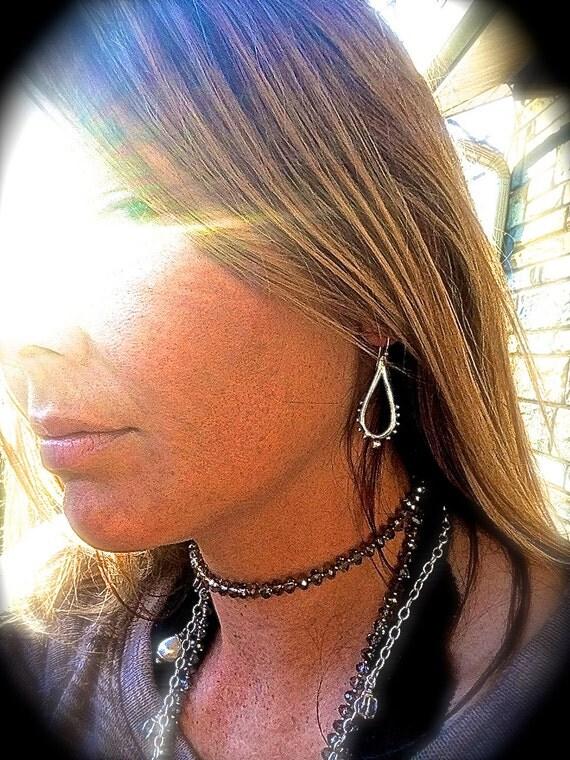 Silver Teardrop Earrings - Modern Jewelry - Dangle Earrings- Reflections
