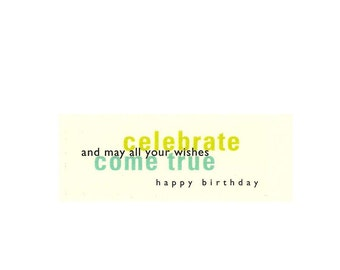 Birthday Card* (B6) *Happy Birthday*celebrate*Fetta di Vita*Barbara Fetta
