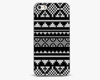 BLACK AZTEC iPhone 6 cover, iPhone 6 Plus cases, iPhone 5/5s case, TribaliPhone 7 case