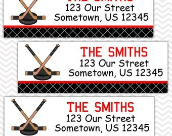 Hockey   - Personalized Address labels, Stickers, Baby Shower, Birthday