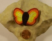 Beaded Fire Butterfly Barrette Clip Hair Accessories