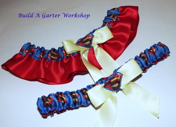 Ribbed and cupped, the 92% polyester 8% spandex Superman Corset & Panty Set w/ Garters is a phenomenal set dedicated to all things super! Super being a .