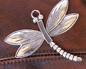 Large Dragonfly Pendant - Antique Silver 1 piece