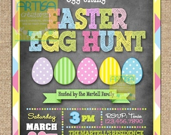 Egg Hunt Invitation Easter Egg Hunt Party Invitation Easter Invitation Party Invitation Egg Hunt Easter Birthday Invitation