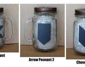 "Arrow, Pennant Chalkboard Label, PVC free, Eco friendly,  2.5"" x 1.5"""