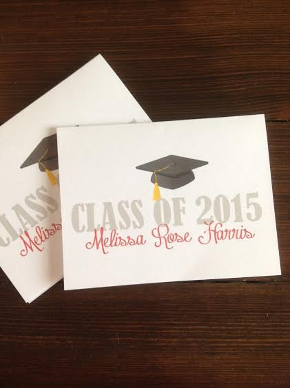 personalized graduation thank you cards made to by mndfavors