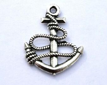 Antique Silver Anchor Charms/Pendants