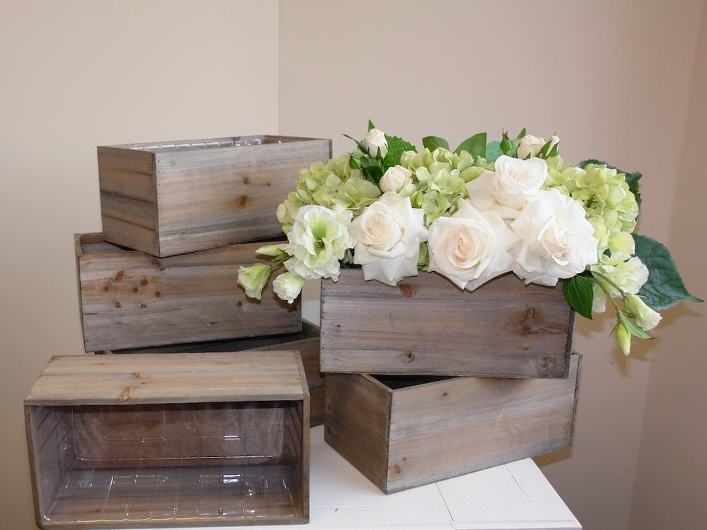 wood box wood boxes woodland planter flower rustic pot square. Black Bedroom Furniture Sets. Home Design Ideas