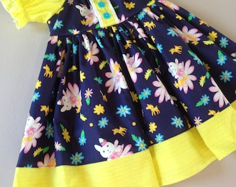 Size 24m/2T......Spring Bunny Dress......Made and ready to be shipped!!