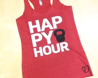Happy Hour Kettlebell Tank // Abundant Heart // Mom Gift Sister Workout