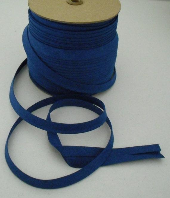 ROYAL BLUE Wholesale Bias Tape 1/2 Double Fold 20 Yards