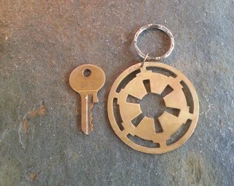 Star Wars Galactic Empire Classic Recycled Keychain  Key Ring Pet ID Tag