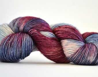 Hand dyed yarn pick your base - Veronica - sw merino cashmere nylon fingering dk worsted