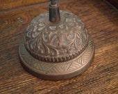 Antique Victorian Hotel Brass Bell, Desk Bell, Bell Hop Butler 1890s