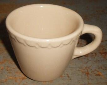Vintage Cup, Syracuse China, Tan, Econo Rim, Restaurant Ware, Mug, Cafe Ware, Barware