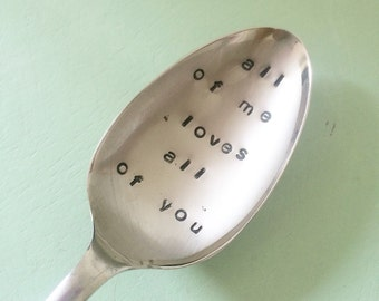 Vintage Hand Stamped Love Teaspoon
