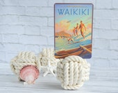 """Set of 20 White Wedding Knot - Large 4"""" Monkey's Fist Cotton Nautical Sailor Place Card/Table Number Holder Beach Destination wedding"""