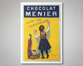 Chocolat Menier Vintage Food&Drink Poster - Poster Paper, Sticker or Canvas Print