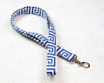 Lanyard, teacher lanyard, Cute Lanyard, Key Lanyard, Badge Lanyard neck strap, lanyard necklace, Landyard Id Badge, id holder-Greek Keys