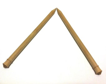 """Brittany Hand Carved 10"""" Single Point Jumbo Wood Knitting Needle Size 35 or 20.00 mm"""