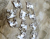 Ten (10) Pewter PUG Charms - Free Shipping in the  US - 5484