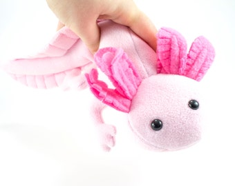 Axolotl Stuffed Animal Plush Toy, Plushie, Softie
