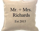 Mr. and Mrs. Pillow Cover
