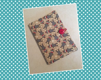 Cute as a Button Notebook Cover (Sock Monkey)