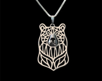 Bear - sterling silver pendant and necklace