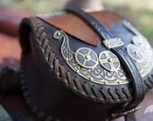 "15% DISCOUNT! Medieval Men's Pouch; Viking Leather Bag; ""Drakkar"" bag"