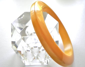 Vintage BAKELITE Butterscotch Bangle Bracelet  Circa 1940
