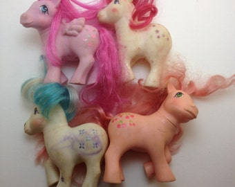 My Little Ponies 80s AS IS fix up Cherries Jubilee Majesty Moon Dancer Heart Throb toys