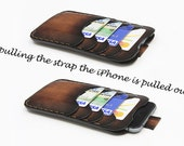 """iPhone 6/6s Plus Leather Case / """"GullWings"""" model designed by Odorizzi / iPhone 6/6s Plus Leather Sleeve / Free Monogram Engrave"""