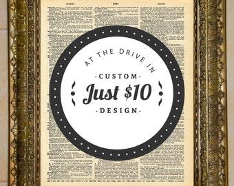 Dictionary Art Custom Design - You Pick the Design!
