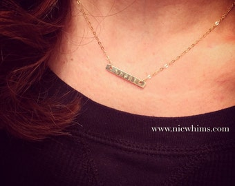 Armenian Name Bar Necklace
