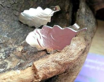 Leaf Earrings Nature Jewellery Leaf Stud Leaf Earrings
