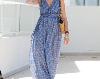 LINEN: long summer dress in different patterns