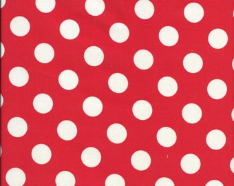 White 1/2 inch Dots on Red by Riley Blake C630-80
