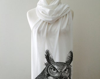 owl Scarf handmade