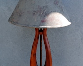 Art Deco Lamp ~ Curly Cherry & Copper 'Deco Tulip' Table Lamp
