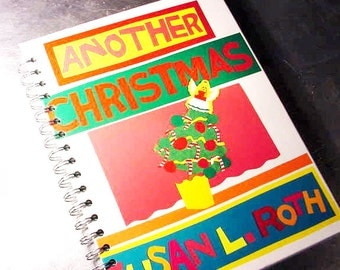 Journal  ANOTHER CHRISTMAS Book Scrapbook Recycled Upcycled Altered