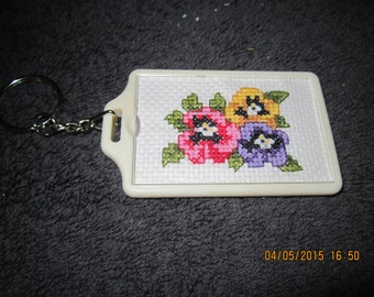 Spring Flowers Key Chain