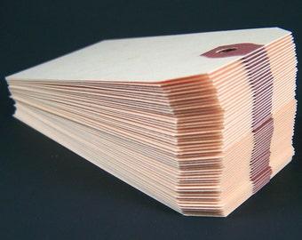 "500 Manila Shipping Tags - 2 1/8"" x 4 1/4"" - Size #4 Manila Tag"
