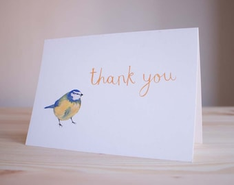 Bluetit Thank You Card