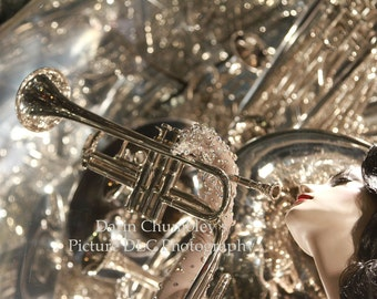 Fine Art Photography-Art Deco Diva Trumpeter, musicians and music lovers!