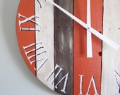 """27"""" Rustic Painted Weathered Pallet Clock REDUCED! CLEARANCE!"""
