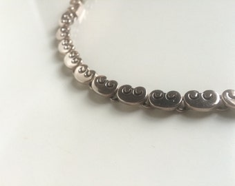 Los Ballesteros, Sterling Silver link neclace. Mexican MODERNIST Mid Century Design