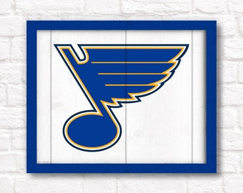 St. Louis BLUES rustic handmade sign - St. Louis Blues fan wall hanging Sports bar decor Man cave decor - Fathers Day gift for Dad
